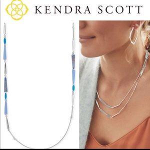 NWT Kendra Scott Silver Aylin Long Necklace